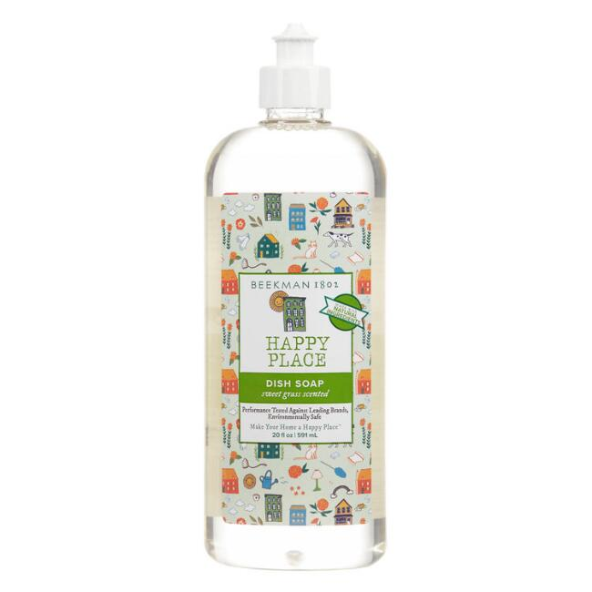 Happy Place Sweet Grass Botanical Dish Soap