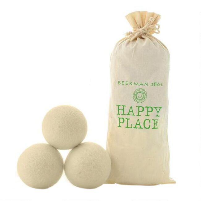 Happy Place Wool Fabric Softener Dryer Balls 3 Pack