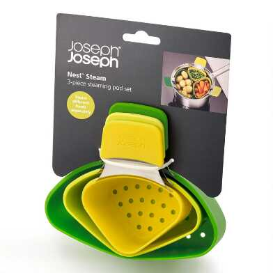 Joseph Joseph Nest Steam Steamer Pods 3 Piece Set