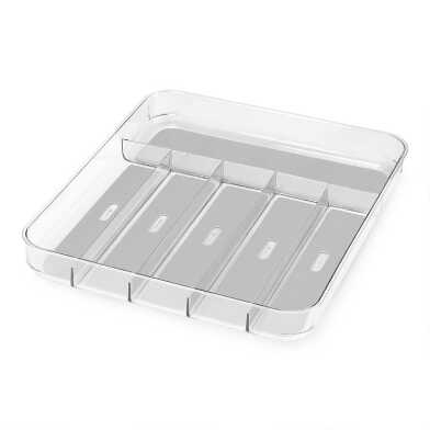 Large Madesmart® Clear Soft Grip Silverware Tray