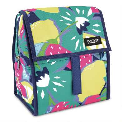 PackIt Floral Fruit Freezable Lunch Bag