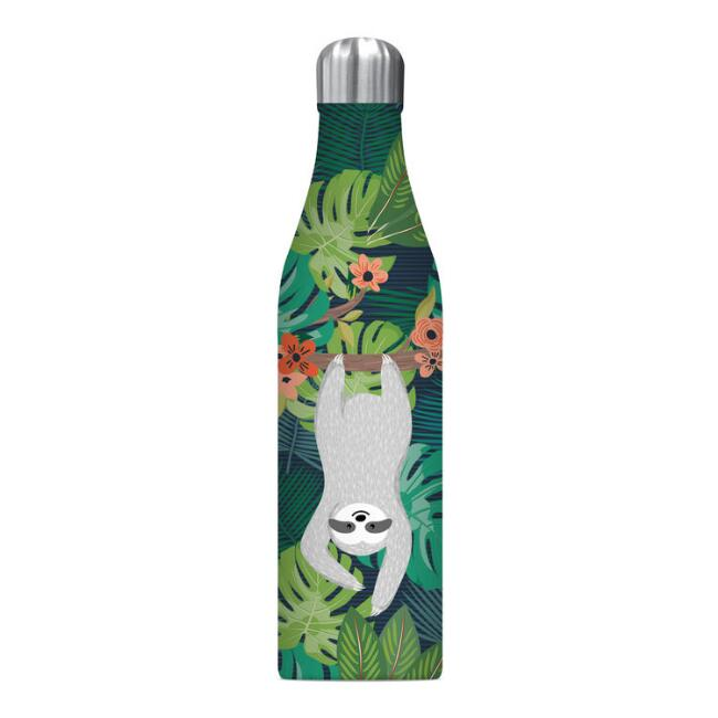Tropical Sloth Insulated Stainless Steel Water Bottle