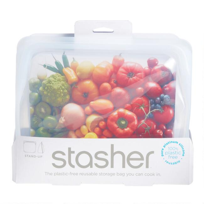 Stasher Clear Reusable Silicone Stand Up Storage Bag