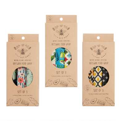 LilyBee Beeswax Reusable Food Wrappers 3 Pack