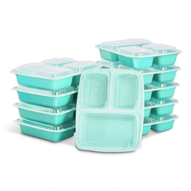Dash Mint Green Meal Prep Bento Box Containers 10 Piece Set