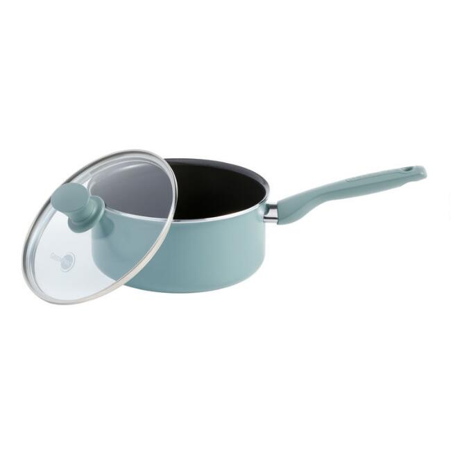 2 Quart GreenPan Presidio Nonstick Ceramic Saucepan with Lid