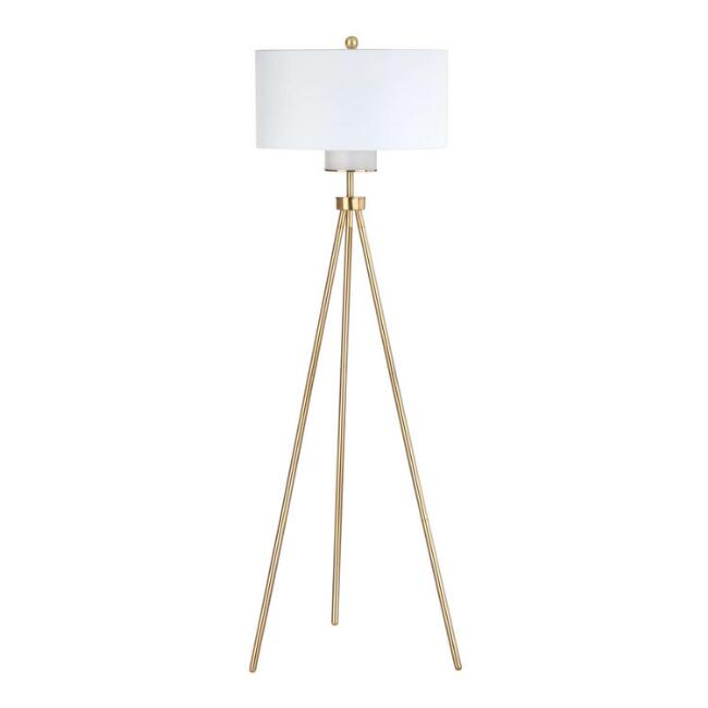 Gold Tripod Morgan Floor Lamp