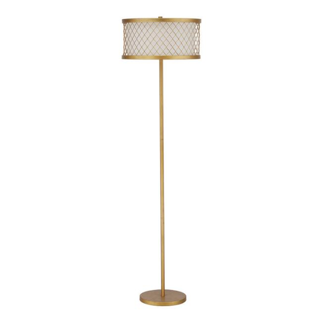 Gold Mesh Taylor Floor Lamp