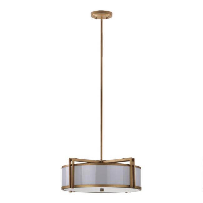 Gold Trim 5 Light Davis Pendant Lamp