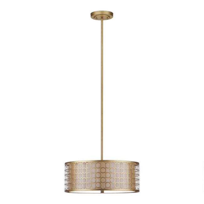Gold Geometric 3 Light Olivia Pendant Lamp