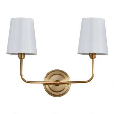 Warm Gold Two Arm Riley Wall Sconce