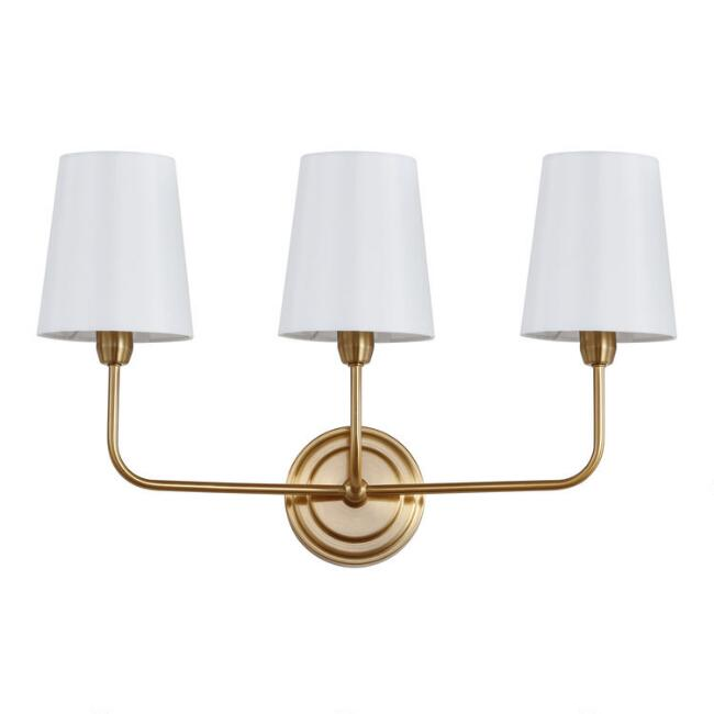Warm Gold Three Arm Riley Wall Sconce