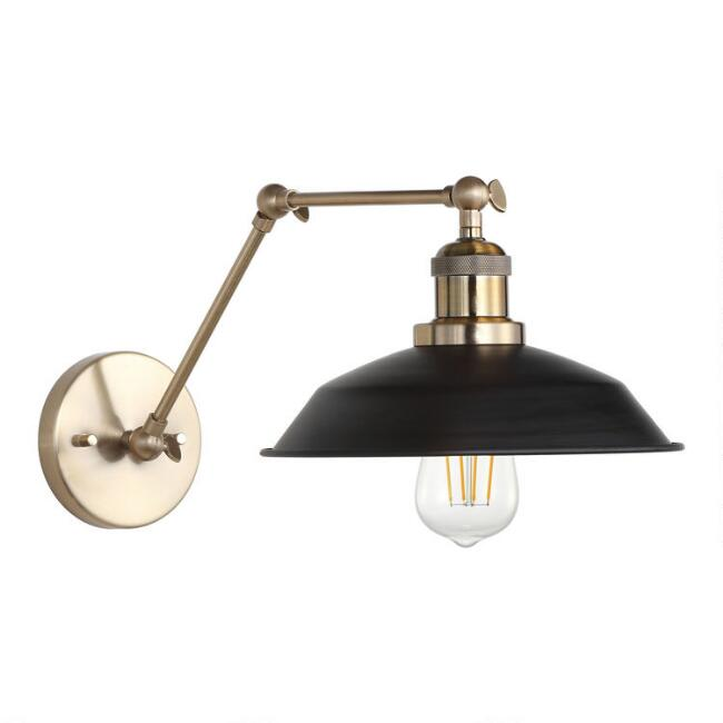 Gold And Black Iron Olson Wall Sconce
