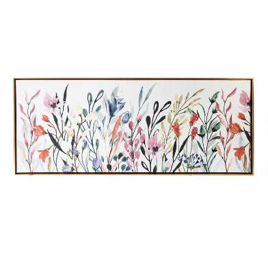 Multicolor Wildflowers Framed Canvas Wall Art
