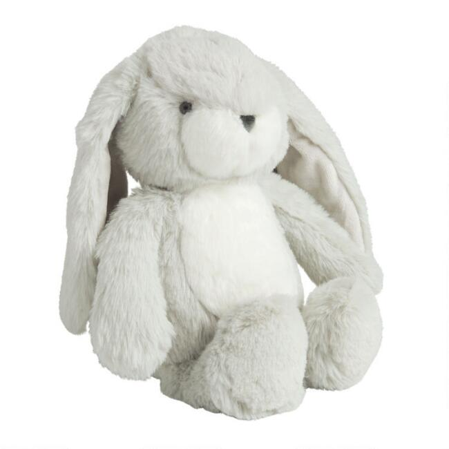 Gray Hopsey Plush Stuffed Bunny