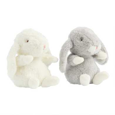 Bunnies by the Bay Lil Hops Plush Stuffed Bunnies Set Of 2
