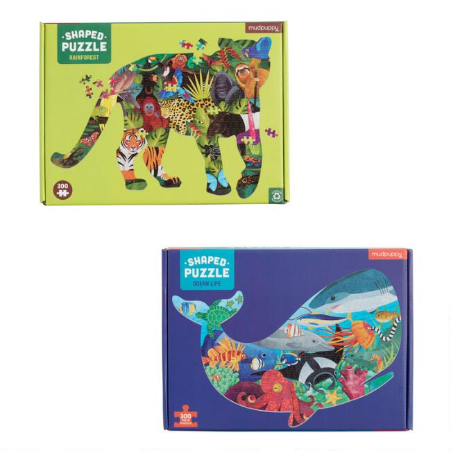 Mudpuppy Ocean and Rainforest 300 Piece Puzzles Set of 2