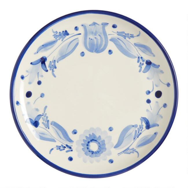 Blue and White Flor Azul Dinner Plate Set of 6