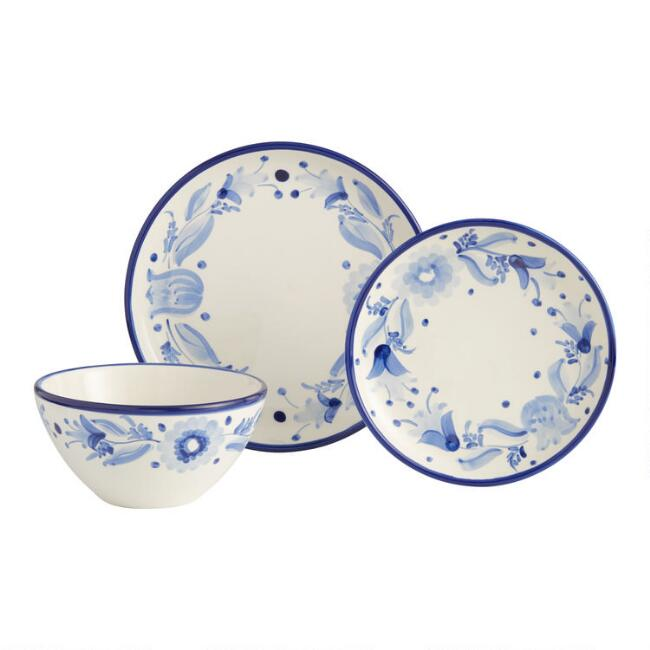 Blue and White Flor Azul Dinnerware Collection
