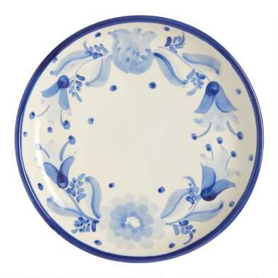 Blue and White Flor Azul Salad Plate Set of 6