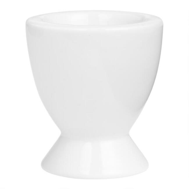 White Porcelain Coupe Egg Cups Set of 12