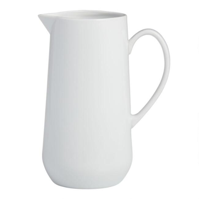 White Porcelain Coupe Pitcher
