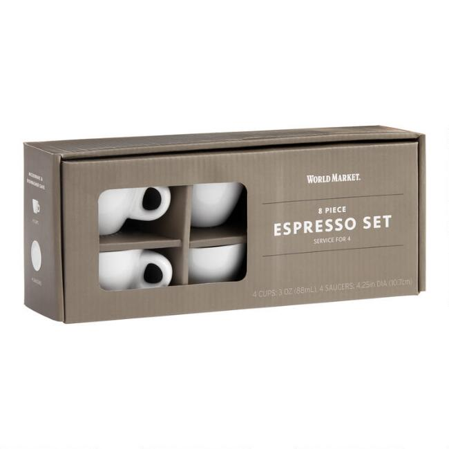 Everyday Espresso Cups and Saucers 4 Pack