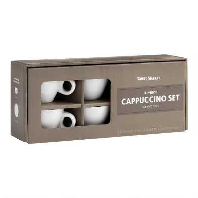 Everyday Cappuccino Mugs and Saucers 4 Pack
