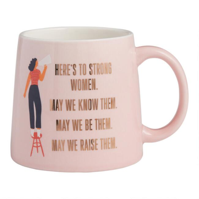 Pink Strong Women Quote Mug
