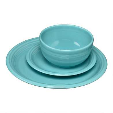 Turquoise Fiesta Bistro Dinnerware Collection