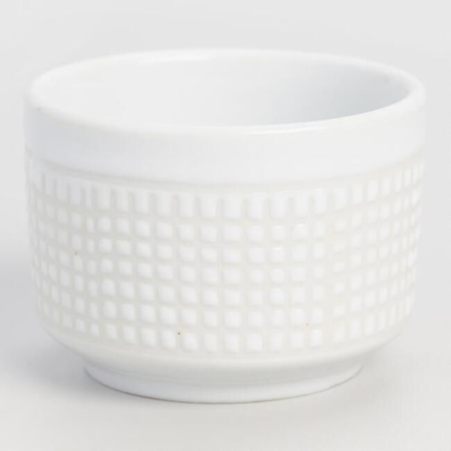 Dotted Porcelain Sake Cups, Set of 4