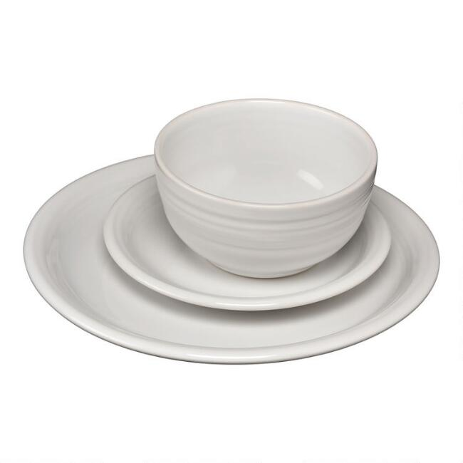 White Fiesta Bistro Dinnerware Collection
