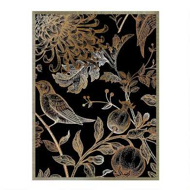 Nordic Victorian I Black and Gold Framed Canvas Wall Art