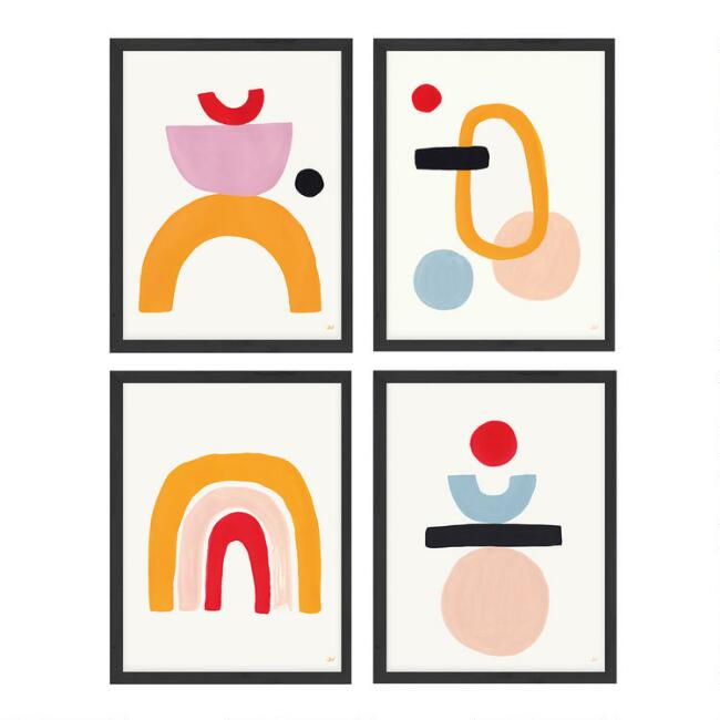 Arch, Balance, Equilibrium, Engage Framed Wall Art Set of 4
