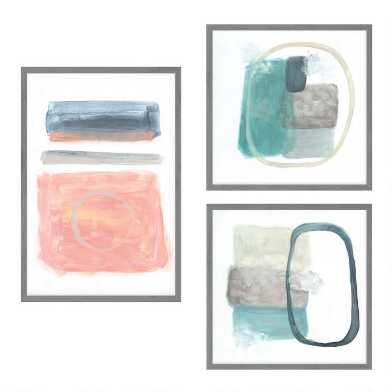 Transparencies Set Framed Canvas Wall Art 3 Piece