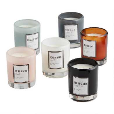 Clear Sham Filled Jar Candle Collection