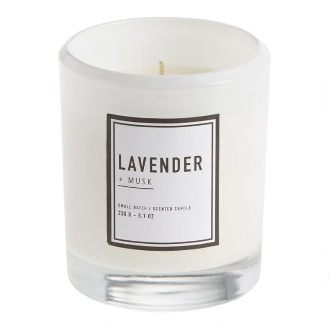 Sweet Lavender Clear Sham Filled Jar Candle