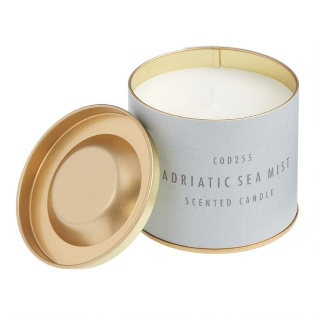 Blue Adriatic Sea Pastel Tin Filled Candle