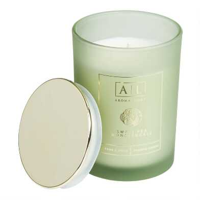 Sweet Pea and Honey Frosted Filled Jar Candle
