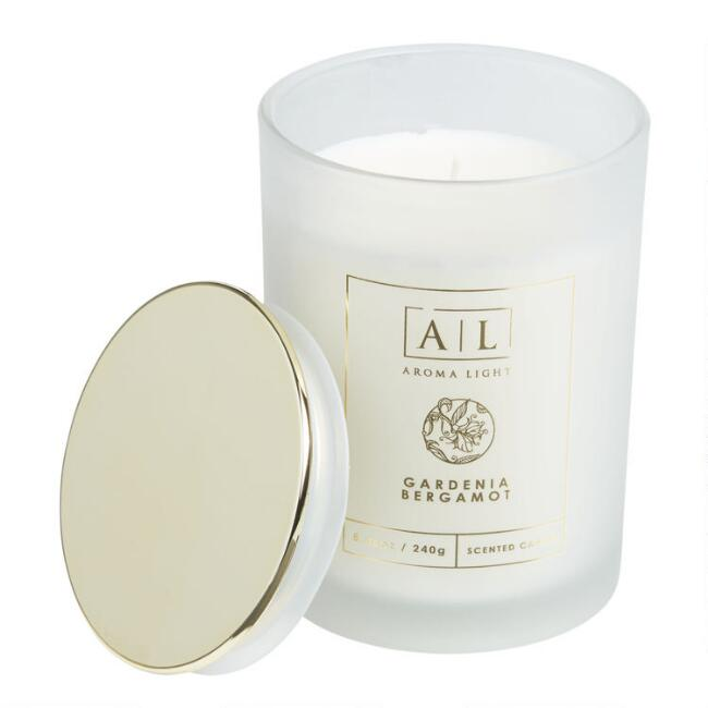 Gardenia and Bergamot Frosted Filled Jar Candle
