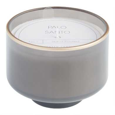 Gray Palo Santo Footed Filled Jar Candle