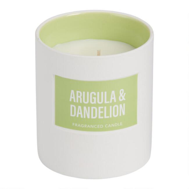 Green Arugula and Dandelion Glossy Filled Jar Candle