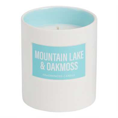 Blue Mountain Lake and Oakmoss Glossy Filled Jar Candle