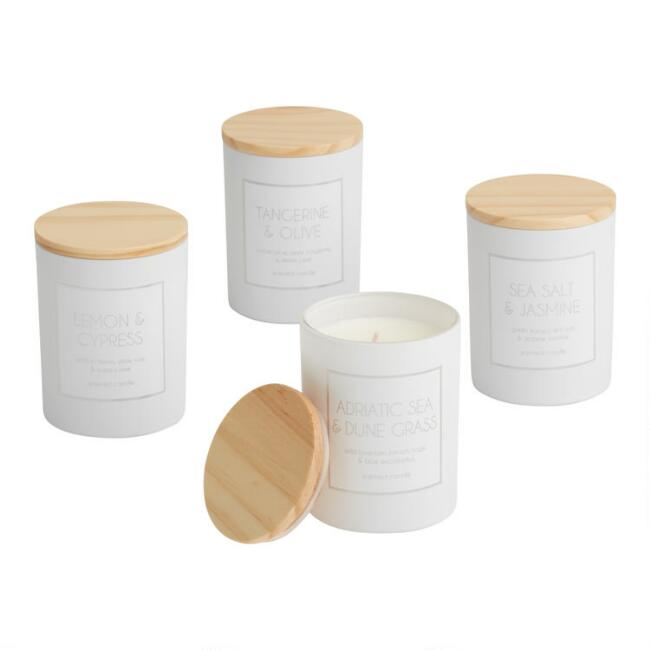 White Holographic Filled Jar Candle Collection