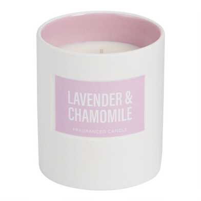 Purple Lavender and Chamomile Glossy Filled Jar Candle