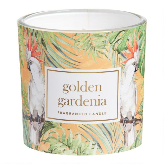 Bird Golden Gardenia Jungle Label Filled Jar Candle