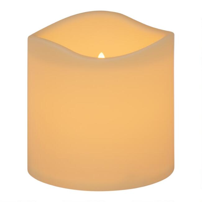 6x6 Ivory Soft Touch Flameless LED Pillar Candle