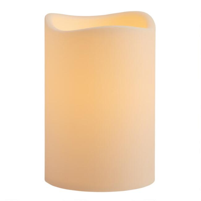 6x9 Ivory Soft Touch Flameless LED Pillar Candle