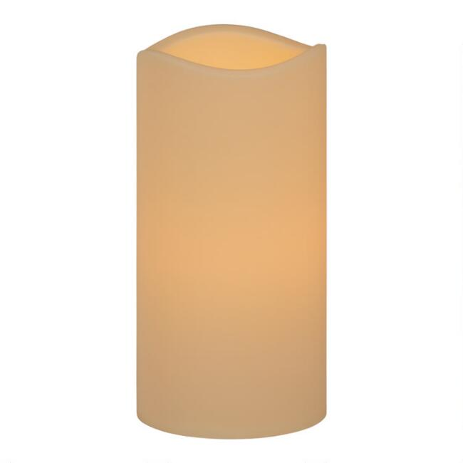 6x12 Ivory Soft Touch Flameless LED Pillar Candle