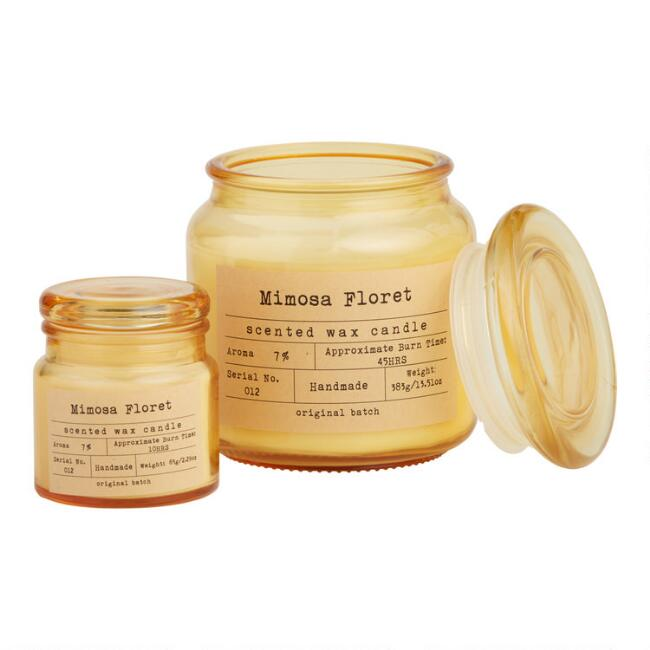 Mimosa Floret Apothecary Filled Jar Candle